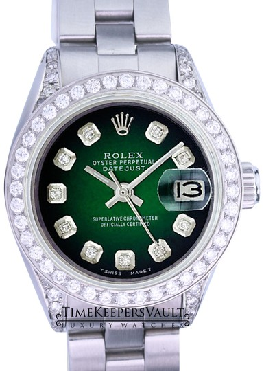 Preload https://img-static.tradesy.com/item/25011817/rolex-green-vignette-lady-datejust-diamond-dial-diamond-lugs-bezel-26mm-watch-0-1-540-540.jpg