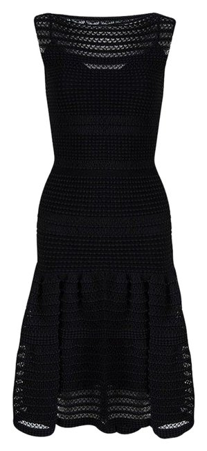 Preload https://img-static.tradesy.com/item/25011832/alaia-black-textured-knit-sleeveless-fit-and-xs-short-casual-dress-size-0-xs-0-1-650-650.jpg