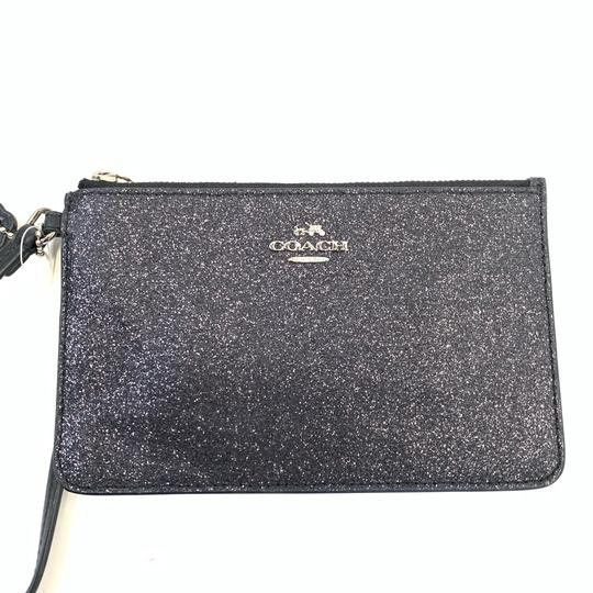 Coach Coach Small Wristlet with Glitter Star Black
