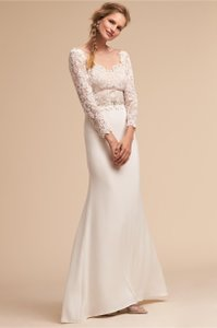 BHLDN Ivory Langston Vintage Wedding Dress Size 12 (L)