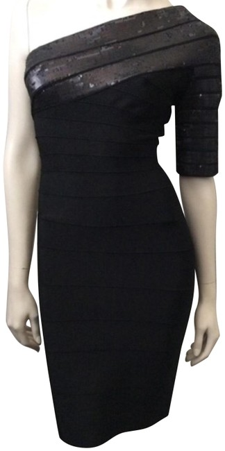 Preload https://img-static.tradesy.com/item/25011948/herve-leger-black-one-sleeve-short-night-out-dress-size-6-s-0-2-650-650.jpg