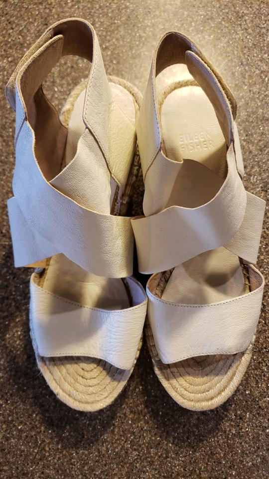 76b7d520730 Eileen Fisher Bone [new] 'willow' Espadrille Wedge Sandals Size US 7.5  Regular (M, B) 13% off retail
