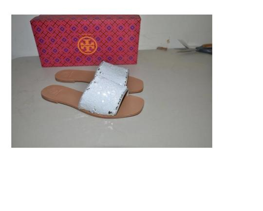 Tory Burch silver perfect white Sandals