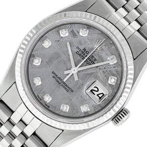 Rolex Meteorite Mens Datejust Ss/White Gold with Diamond Dial Watch