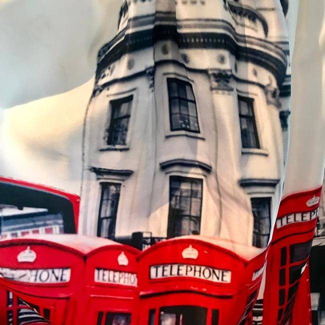Unbranded Ted Baker London Bus Phone Booth England Skirt Red White