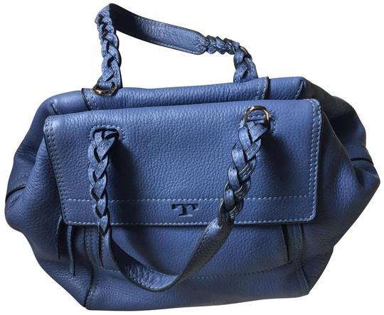 Preload https://img-static.tradesy.com/item/25012173/tory-burch-half-moon-small-blue-pebbled-leather-satchel-0-1-540-540.jpg