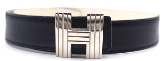 Preload https://img-static.tradesy.com/item/25012227/hermes-28230-black-on-off-white-cream-color-kelly-32mm-silver-cadena-h-size-70-reversible-leather-be-0-1-540-540.jpg