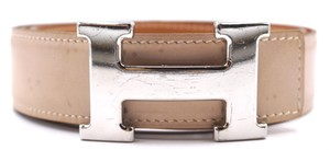 Hermès 32Mm classic silver H Reversible leather Belt Size 85