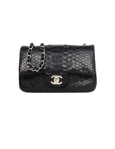 bfa9306be9a7 Chanel Classic Flap Pink Python Skin Leather Cross Body Bag - Tradesy