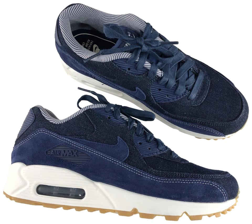 a5c04b0d80f6 Nike Blue Women s Air Max 90 Se Running Denim Sneakers. The Upper Provides  Durable Support and A Premium Look While The Sneakers