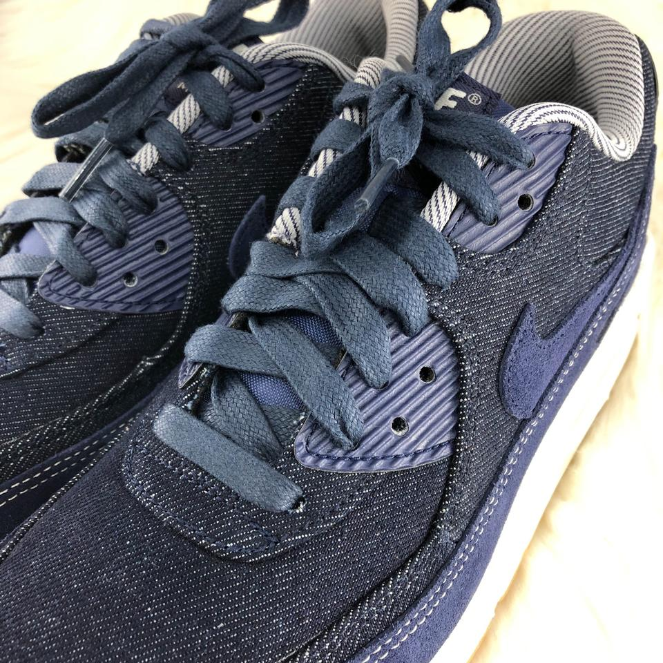 new product eda3b 44ae7 Nike Blue Women s Air Max 90 Se Running Denim Sneakers. The Upper Provides  Durable Support and A Premium Look While The Sneakers Size US 8 Narrow (Aa,  ...