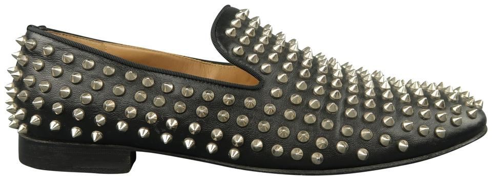 more photos c77b0 30627 Christian Louboutin Black Rollerboy Spikes Leather Loafers Formal Shoes  Size US 9.5 Regular (M, B)