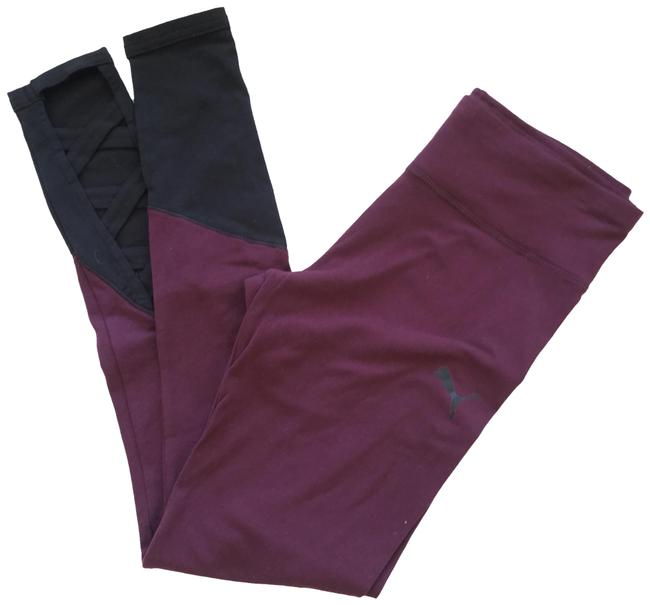 Item - Fig and Black New Interlace Tights Activewear Bottoms Size 8 (M)