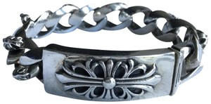 Chrome Hearts ID GOTHIC CROSS STERLING SILVER MEN'S BRACELET