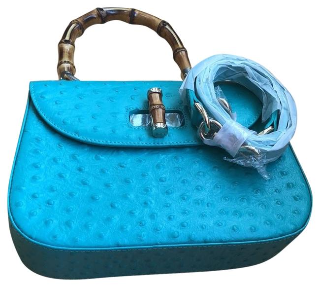 Item - Bamboo New Without Tags Blue Leather Baguette