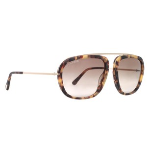 a0a1ddef4dafe Tom Ford Tom Ford Tom Ford Johnson TF 453 53F Light Havana Brown Gold  Aviator