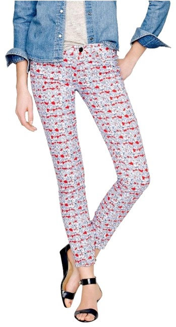Item - Red/Blue/White Liberty Toothpick In Matilda Tulip Floral Capri/Cropped Jeans Size 27 (4, S)