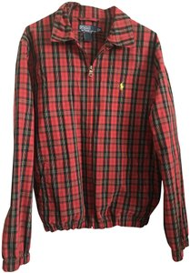 Polo Ralph Lauren Preppy Bomber Red Plaid Jacket