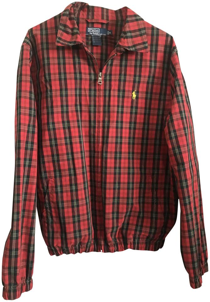 c658d8fb Red Plaid Bomber Jacket