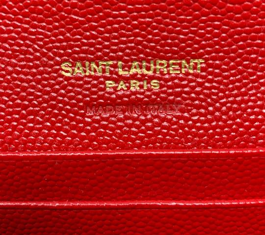Saint Laurent Monogram Quilted Textured-leather Envelope Wallet Image 10