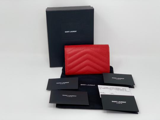 Saint Laurent Monogram Quilted Textured-leather Envelope Wallet Image 6
