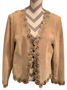 bc2a127a9004 Pamela McCoy Beige Leather Jacket