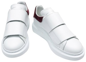 Alexander McQueen White / Burgundy Athletic