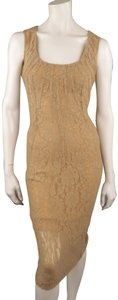 Beige Maxi Dress by Dolce&Gabbana Lace Sleeveless Cocktail Dolce & Gabbana