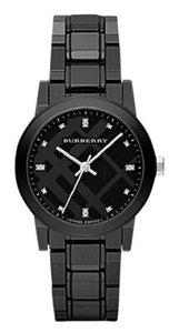 Burberry New Bu9183 Diamond Sapphire Crystal Women's Watch