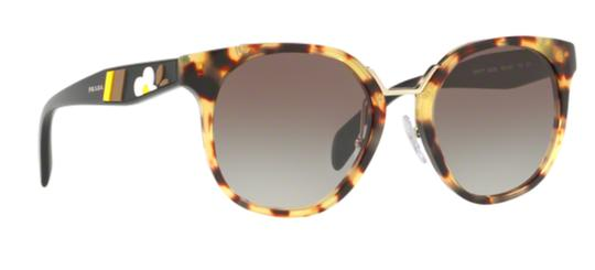 Prada New Semi Rounded Tortoise Shell SPR 17T 7S00A7 Free 3 Day Shipping