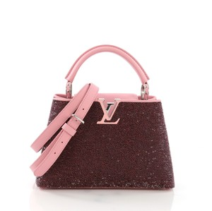 Louis Vuitton Sequins Satchel in pink and black