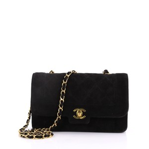 Chanel Suede Cross Body Bag