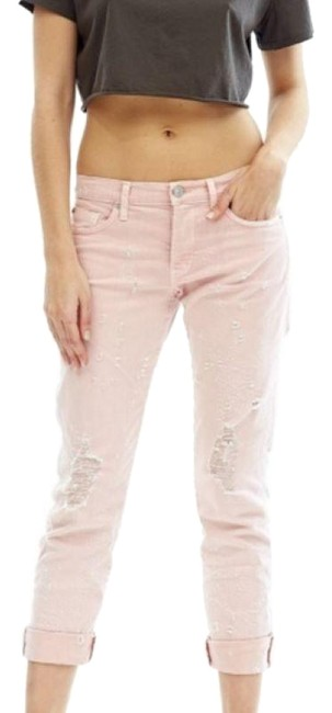 Item - Blush Distressed Riley Crop Relaxed Straight Capri/Cropped Jeans Size 25 (2, XS)