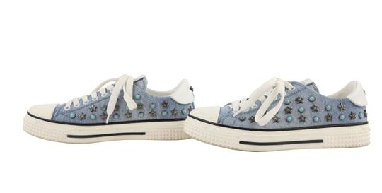 Valentino Sneakers Blue Athletic Image 4