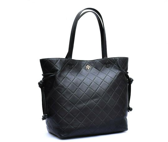 cf468563f06 Tory Burch Georgia Slouchy Quilted Black Leather Tote - Tradesy
