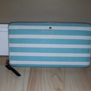 Kate Spade Wristlet in White and Tiffany Blue