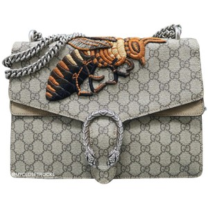 Gucci Gg Medium Dionysus Bee Satchel in Grey