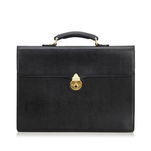 Burberry 9bbubs002 Vintage Leather Briefcase Laptop Bag