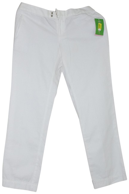 Item - White Cotton Women's Pants Size 4 (S, 27)