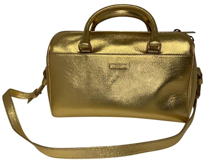 Item - Duffle Ysl Small Gold Leather Satchel