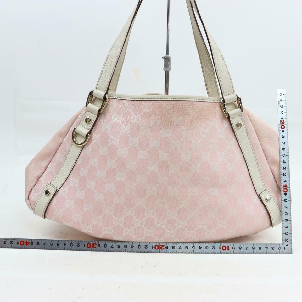 e0fb25a0ebc Gucci Abbey Monogram Gg Hobo 870308 Pink Canvas Shoulder Bag - Tradesy