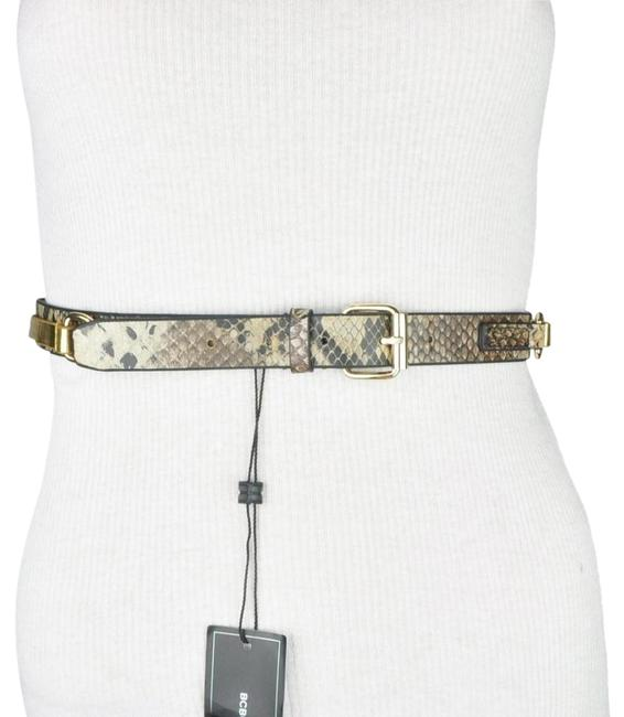 Item - Gold and Taupe Snake Print Size Small Waist Belt