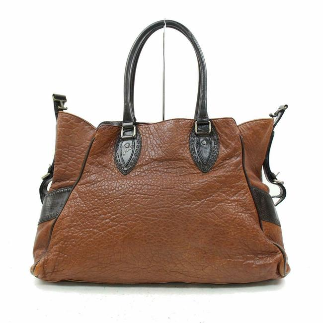 Item - Large Selleria Du Jour 870311 Brown Leather Tote