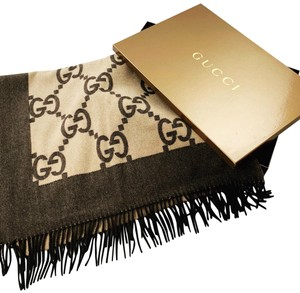 Gucci Gucci Reversible Two Tone Brown Blanket