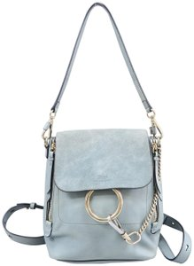 b5675b7037d0a Chloé Faye Large Blue Soft Leather Shoulder Bag - Tradesy