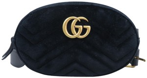 Gucci Marmont Matalasse Velvet Cross Body Bag