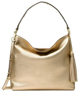 Michael Kors Leather Shoulder Pale Hobo Bag