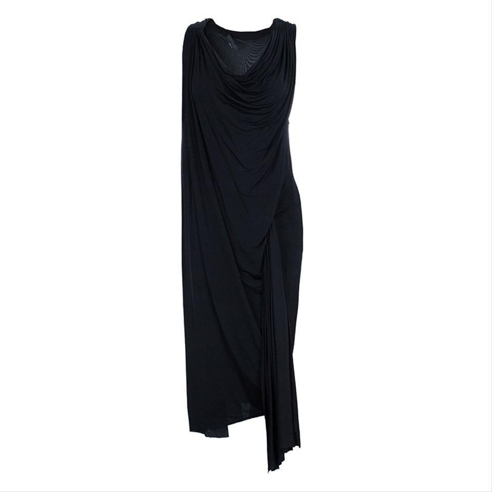 c08c3da96c4 Alexander Wang Black Draped Neck Jersey Casual Maxi Dress. Size  4 (S) ...