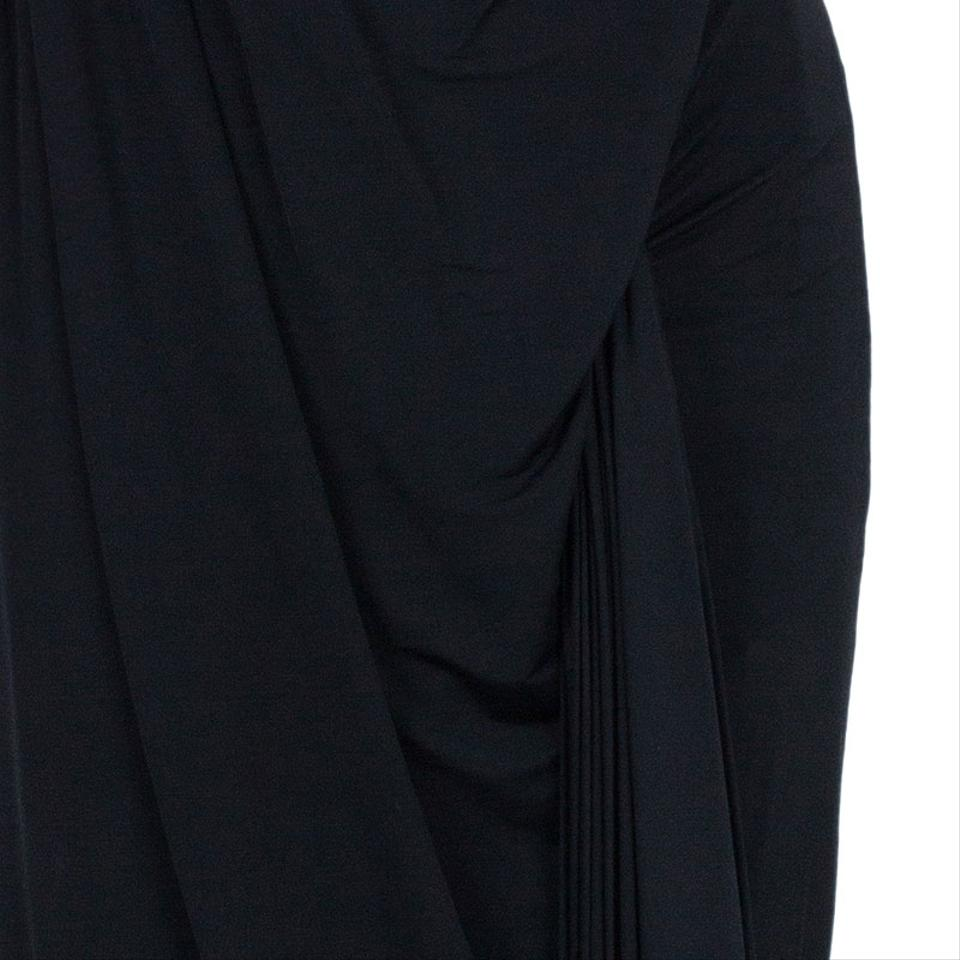 6378422ed36 Alexander Wang Black Draped Neck Jersey Casual Maxi Dress Size 4 (S ...