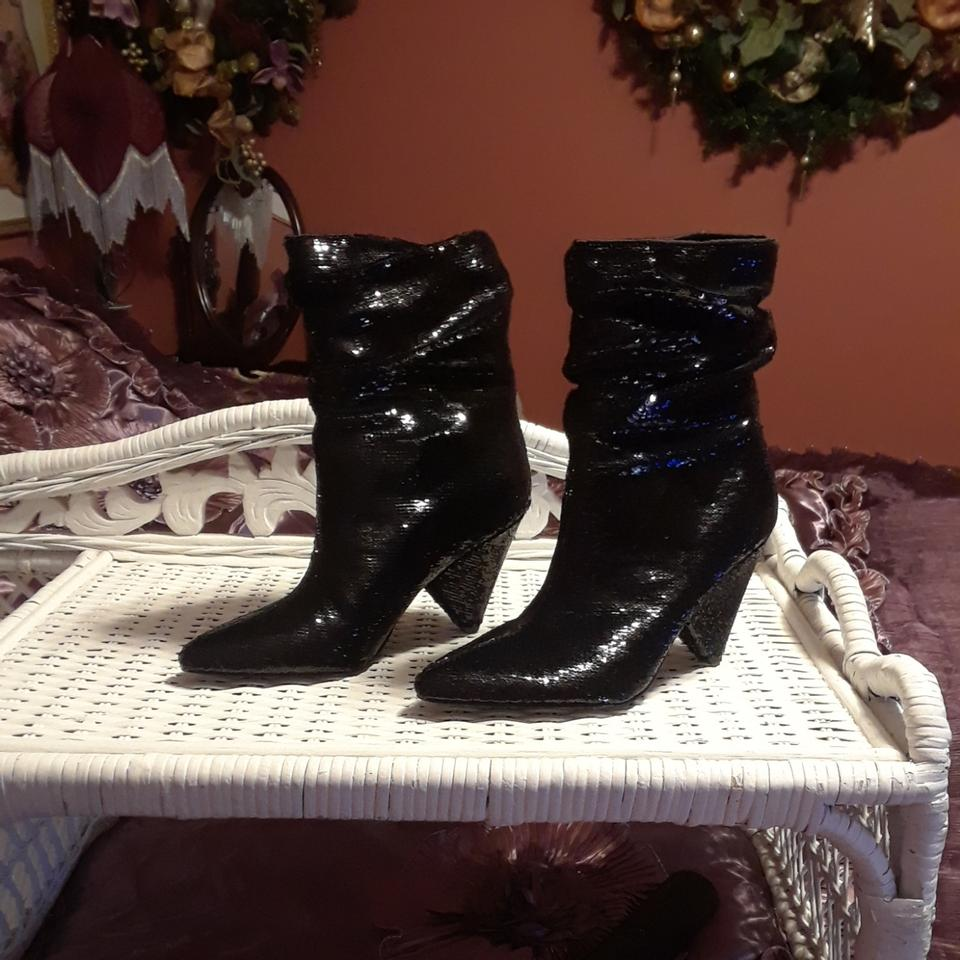 ecbd6f932163 Guess By Marciano Black Sequin Boots/Booties Size US 6.5 Regular (M ...